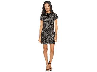 Tahari ASL Petite Sequin T-Shirt Dress Women's Dress