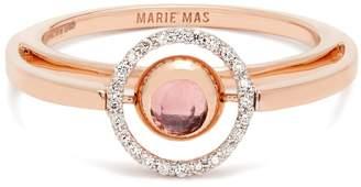 MARIE MAS Diamond, amethyst, topaz & pink-gold ring