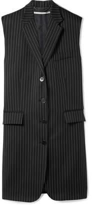 Stella McCartney Sadi Oversized Pinstriped Wool-blend Vest - Midnight blue