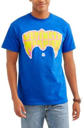 WWE Movies & TV Big Men's Ultimate Warrior Wrestler Short Sleeve Graphic T-Shirt