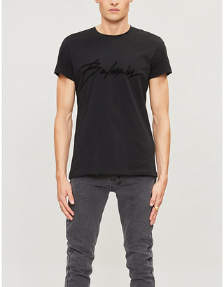 Balmain Paris logo cotton-jersey T-shirt