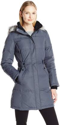 """Free Country Women's 34""""Hooded Down. Adjustable Waist Detail"""