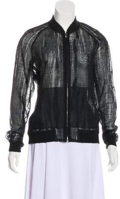 3.1 Phillip Lim Lace-Accented Bomber Jacket