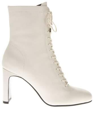 Lola Cruz Lula White Leather Boots