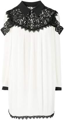 Fausto Puglisi floral lace panel dress