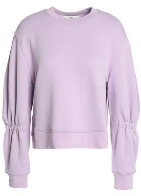 Tibi Shirred French Terry Sweatshirt