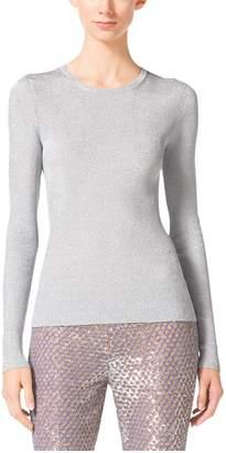 Michael Kors Metallic Crewneck Sweater