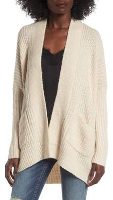 DREAMERS BY DEBUT Rib Knit Open Cardigan