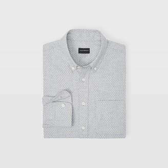 Club Monaco Slim Polka Dot Flannel Shirt