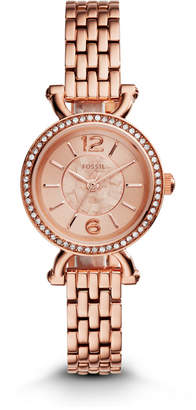 Fossil Georgia Cordell Rose-Tone Stainless Steel Watch