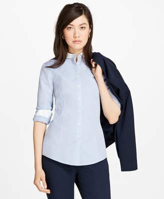Brooks Brothers Non-Iron Dobby-Stripe Tailored Shirt
