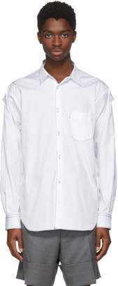 Comme des Garcons White Cotton Poplin Shirt