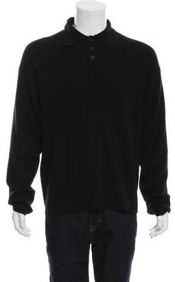 Armani Collezioni Wool Button-Up Henley Sweater w/ Tags