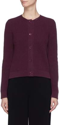 The Row 'Loulou' rib knit cashmere cardigan