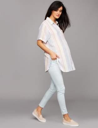 AG Jeans Secret Fit Belly Legging Ankle Maternity Jeans - Light Wash