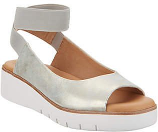 Corso Como Leather Ankle Strap Sandals- Beeata
