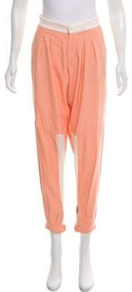 Chloé Mid-Rise Colorblock Pants
