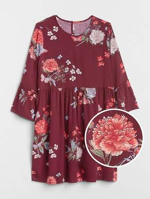 Gap Floral Bell-Sleeve Dress