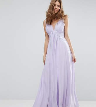 Fame & Partners Tall Valencia Maxi Dress with Cut Out Back