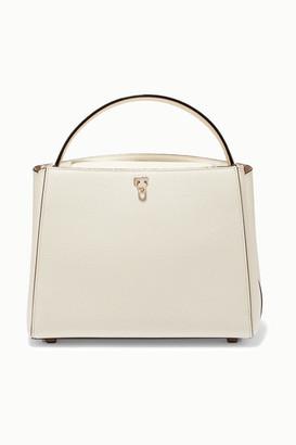 Valextra Brera Textured-leather Shoulder Bag - Cream