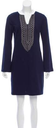 Nicole Miller Embellished Long Sleeve Dress