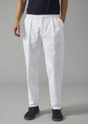 Giorgio Armani Cotton Trousers With Darts