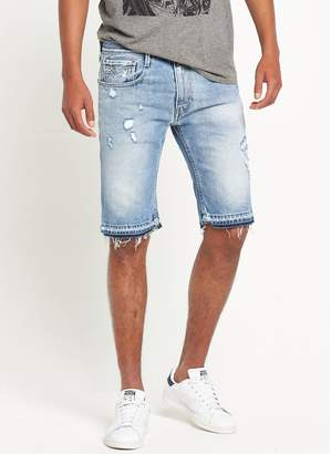 Replay Anbass Distressed Shorts