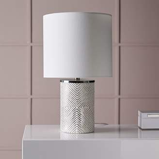 west elm Etched Glass Table Lamp