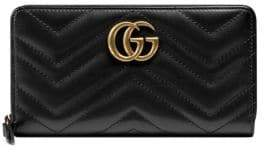 Gucci GG Marmont Matelasse Leather Zip-Around Wallet