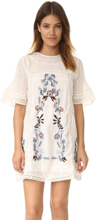 Free People Perfectly Victorian Embroidered Mini Dress 20