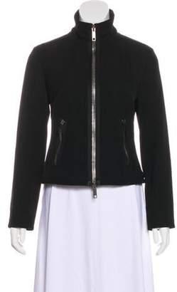 Burberry Wool Zip-Up Jacket Black Wool Zip-Up Jacket