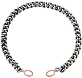 Marla Aaron 6.5 Heavy Curb Bracelet - Rose Gold Loops