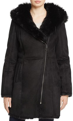 Marc New York Shea Faux Toscana Shearling Coat - 100% Exclusive $375 thestylecure.com