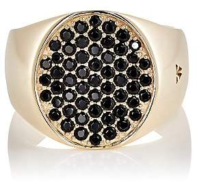 Tom Wood Women's Pinky Oval Black-Spinel Ring-Gold