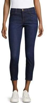 J Brand Mid Rise Skinny Capri Jean