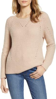 Lucky Brand Pointelle Crewneck Sweater