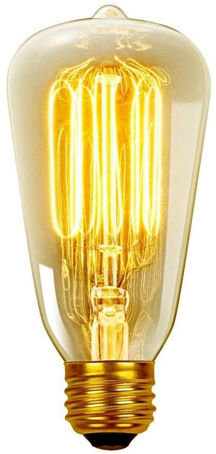 Globe Electric 60-Watt Incandescent S60 Vintage Squirrel Cage Medium Base Light Bulb