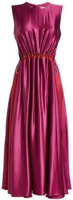 Roksanda Keeva Silk Dress with Drawstrings