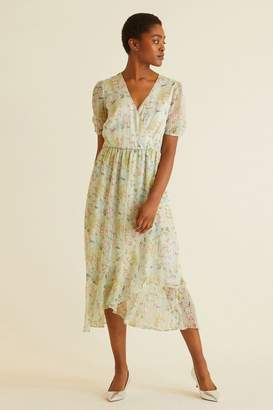 Oliver Bonas Womens Storyteller Print Dress - Green