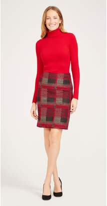 J.Mclaughlin Elm Skirt in Plaid Jacquard