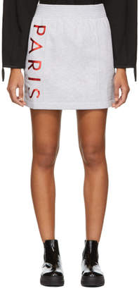 Kenzo Grey Logo Sport Jog Miniskirt