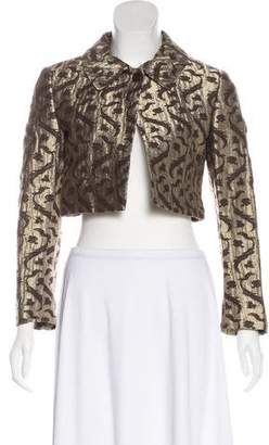 Dries Van Noten Cropped Metallic Jacket