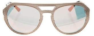 Versace Reflective Aviator Sunglasses