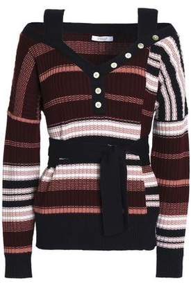 Derek Lam 10 Crosby Cold-Shoulder Wool Sweater