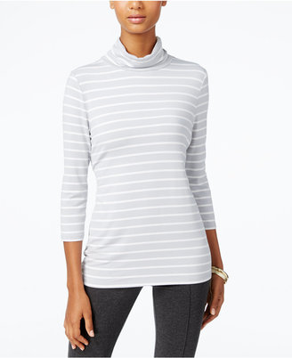 Alfani PRIMA Striped Turtleneck, Only at Macy's $39.50 thestylecure.com