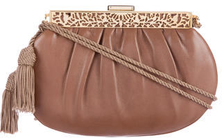 Judith Leiber Framed Leather Evening Bag $175 thestylecure.com