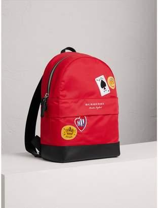 Burberry Appliquéd Nylon Backpack
