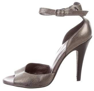 DKNY Leather Ankle Strap Sandals