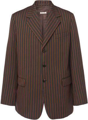 Marni Striped Oversized Three Button Blazer