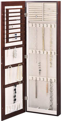 FINE JEWELRY Brown Wall Mounted Mirror Jewelry Armoire